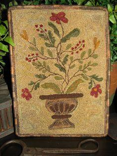 Garden Urn Punchneedle Embroidery Pattern by goosnest on Etsy, via Etsy.