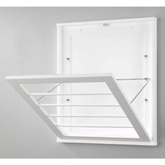 Shop for Whitmor Wall Mounted Drying Rack, White. Get free delivery On EVERYTHING* Overstock - Your Online Office Furniture Store! Small Laundry Rooms, Laundry Room Organization, Home Office Organization, Laundry Room Design, Organizing Your Home, Laundry Closet, Wall Mounted Drying Rack, Mobile Home Kitchens, Do It Yourself Organization
