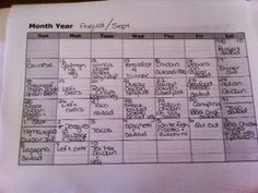 Meal planning for a large family