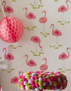 Flamingo Oasis | Tapeten der 70er