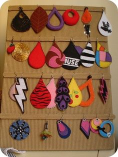 pendietes de fieltro / felt earrings