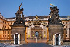 Prague castle entrance and 1st courtyard, Prague, Czechia