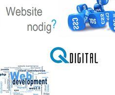 Is uw bedrijfspagina nog niet mobiel of verouderd? Qdigital is er ook voor al uw webdesign. Voor vragen en offertes mailt u gerust. info@qdigital.nl