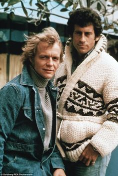 Back in the day: The actors pictured on the shows set in with David Soul (left) as Kenneth Hutch Hutchinson and Paul Michael Glaser as David Michael Starsky Vintage Tv, Vintage Hollywood, Vintage Beauty, Hospital Tv Shows, General Hospital, Mejores Series Tv, Paul Michael Glaser, Baby Movie, David Soul