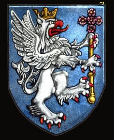 Stained glass Heraldic Griffin