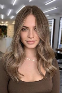 Dark Blonde Hair Color, Blonde Hair Looks, Brown Blonde Hair, Hair Color Balayage, Light Brown Hair Colors, Light Brunette Hair, Lightest Brown Hair Color, Best Hair Color, Cool Brown Hair