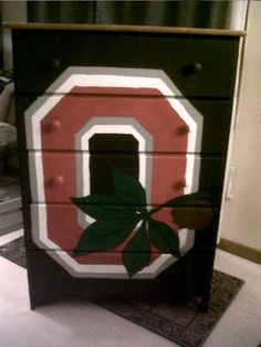 A Pinner Painted This Dresser For Her Son's Room! I Love It! I Want One!!