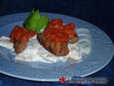 See what I'm cooking on Cookpad! Turkish Recipes, Greek Recipes, Sweet Red Pepper, Opening A Restaurant, Yogurt Sauce, Ground Meat, Recipe Images, Fish Dishes, Tomato Sauce