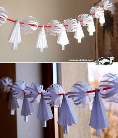 Paper Tree and Snowball GARLAND | krokotak