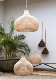 Rotan hanglamp Dome medium Natural Interior, Home And Living, Cribs, Ceiling Lights, Interior Design, Lighting, House, Medium, Home Decor