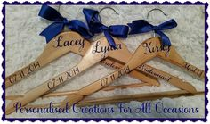 Personalised Bridal Party Coat Hangers by PCFAO on Etsy
