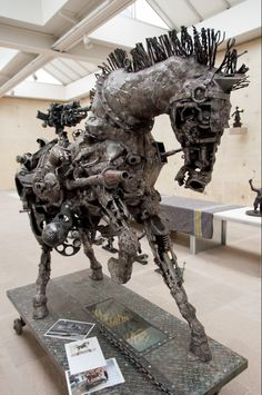 Willie Bester - Trojan Horse, 2007 Steampunk Animals, Trojan Horse, African Sculptures, South African Artists, Art Education, Sculpture Art, Sculpting, Southern, Houses