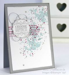 Stampin' Up! Demonstrator Pootles - Choose Happiness and a little Gorgeous Grunge