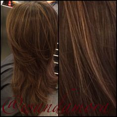 Chestnut Brown base with sandy beige highlights.  By wanda mora