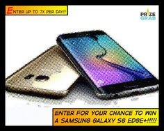 PRIZE ALERT: Samsung Galazy S6 Edge Smartphone!