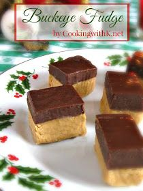 Buckeye Fudge is a creamy peanut butter fudge layer covered with a thick layer of chocolate ganache. This is the best way I can describe it. Two amazing fudge flavors stacked on top of each other. Fudge Flavors, Fudge Recipes, Candy Recipes, Cookie Recipes, Dessert Recipes, Desserts, Yummy Recipes, Cookies And Cream Fudge, Cream And Fudge