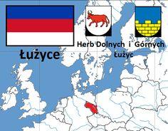 Łużyce.  Powierzchnia Łużyc wynosi około 8000 km². Dzielą się na dwie części: część północna – Łużyce Dolne z głównym miastem Chociebuż (dlnłuż. Chóśebuz) leży w większości na południu landu Brandenburgia i częściowo w landzie Saksonia, część południowa – Łużyce Górne, do XV wieku Milsko z głównym miastem Budziszyn (grnłuż. Budyšin) w większości należy do Saksonii, częściowo leży zaś na południu landu Brandenburgia.