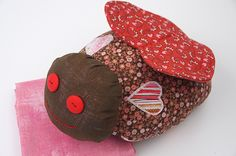 Handmade softie lovebug