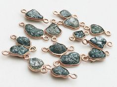 WHOLESALE 10 Pcs Rose Gold Blue Rough Diamond by gemsforjewels