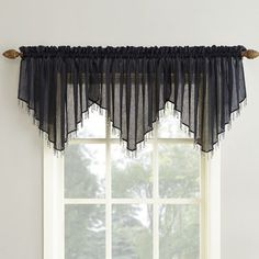 Wrought Studio Sheer voile curtain is a high twist solid that lets soft sunlight through. Pair it with other window treatments for a stylish layered look. Balloon Curtains, Cute Curtains, Shabby Chic Curtains, Valance Curtains, Elegant Curtains, Valances, Valance Window Treatments, Window Coverings, Curtain Patterns