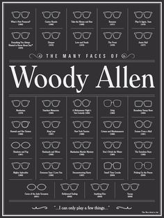 the many faces of woody allen.
