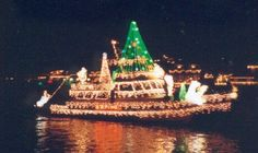 pics of boats with christmas lights - Google Search