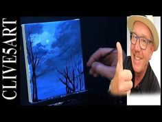 Easy Night Sky Lesson, Acrylic painting for beginners - YouTube