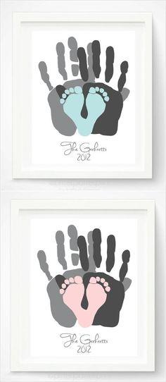 DIY Baby Room Deco, Decoration Ideas, Handprint, Footprint