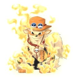 arcanine ace one piece - Google Search