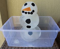 why wait till winter - build an ice ball snowman & see how long it takes to melt in the summer sun! Fun!