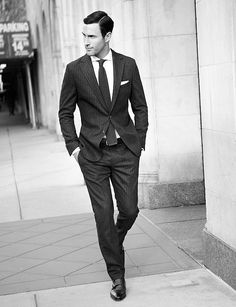 This is how a suit should fit. A well-fitting suit is all you need to look great.