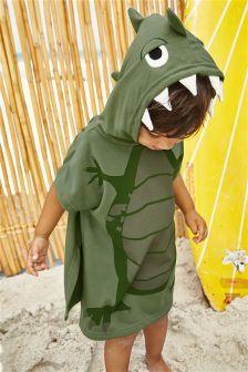 Poncho en éponge motif dino (9 mois - 10 ans)
