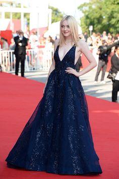 Dakota Fanning in Elie Saab – Venice Film Festival