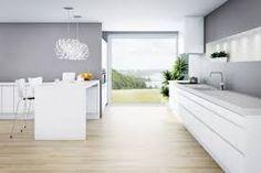 Inspiration of Retro Nordic Kitchen Interior Design by Norema Modern Grey Kitchen, Nordic Kitchen, Gray And White Kitchen, Modern Kitchen Interiors, Scandinavian Kitchen, Modern Kitchen Design, Interior Design Kitchen, Zen Kitchen, Kitchen Interior