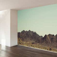 Deserted Mountains Wall Mural Decal