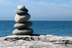 A cairn on Dungeness Spit - just north of Sequim, WA