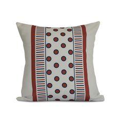 """Zipcode Design Elaine Outdoor Throw Pillow Size: 20"""" H x 20"""" W x 3"""" D, Color: Orange"""