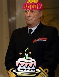 The king of Norway's birthday party