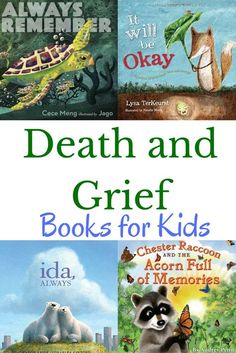 Books for kids about death and grief to help children cope with loss from /growingbbb/