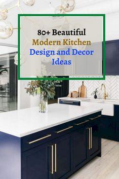 80+ Beautiful Modern Kitchen Design and Decor Ideas #kitchendesignideas Rustic Kitchen, Kitchen Decor, Modern Kitchen Design, Decor Ideas, Dinner, Beautiful, Home Decor, Dining, Kitchen Rustic