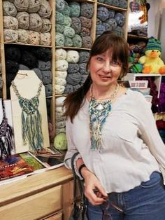 Torrington resident Olga Zvezdina, loves to take crochet and create beautiful miniature pieces of art by crocheting flora neckpieces, embellished with Italian fabrics and ribbons.