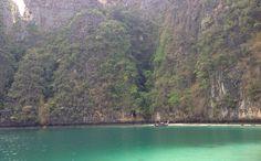 The warm, clear waters around Maya Beach.