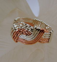 Sterling Silver and Copper Wire Wrapped by SilverStringsStrands, $25.00