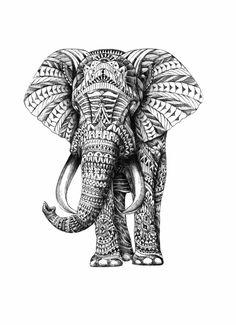 Tribal Elephant Design