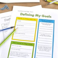 Journaling your Goals: Purposeful reflection for effective goal setting by Christie Zimmer -- includes free printable guided journal pages Daily Journal Prompts, Goal Journal, Journal Pages, Life Planner, Weekly Planner, Planner Ideas, Planners, Instructional Coaching, Journal Template