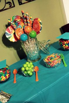 birthday party candy table