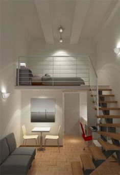 n industrial loft design was meant for an artist and it combines the best of both worlds. A living area and a workshop. This industrial interior loft is a wonde Loft Design, Tiny House Design, Design Case, Design Model, Design Room, Design Design, Design Trends, Design Ideas, Small Rooms
