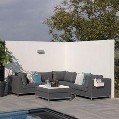 Ibiza Lounge Garten Loungegruppe Grau Garten Gartenmöbel