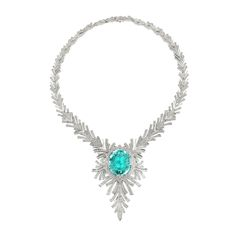 The largest paraiba ever offered at auction. Paraiba tourmaline and diamond pendent necklace, Kat Florence. Clean Gold Jewelry, High Jewelry, Luxury Jewelry, Jewelry Accessories, Jewelry Design, Craft Jewelry, Jewelry Auctions, Tourmaline Necklace, Silver Engagement Rings