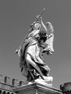 angel-statue-famous-rome-italy Angel Sculpture, Sculpture Art, Sculptures, Angel Statues, Rome Italy, Tattoo, Tattoos, Sculpting, Japanese Tattoos